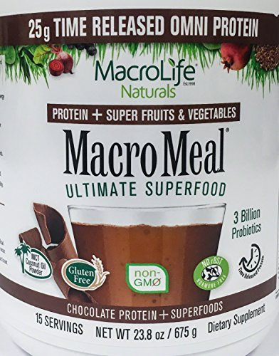 Macro Life Naturals Macro Greens - MacroMeal Omni Protein by MacroLife Naturals – 25g Protein – Hydrolyzed Collagen Peptides (90%) – Gluten & Hormone Free – Keto & Paleo Friendly for Sustained Energy - Contains MCT Coconut Oil