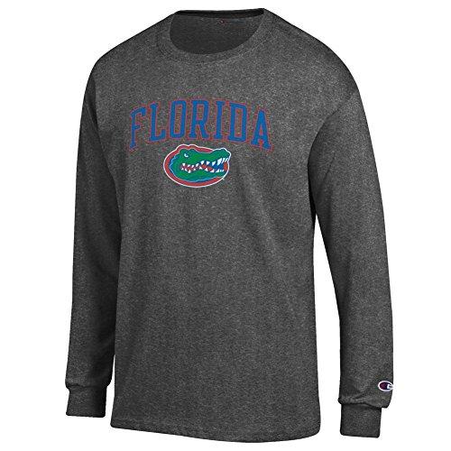 - Elite Fan Florida Gators Men's Long Sleeve Arch Tee Shirt, Dark Heather, X Large