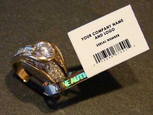 5,000 Etiquetas de Seguridad para Joyeria- inviolable, Impresion Personalizada. Joyeria