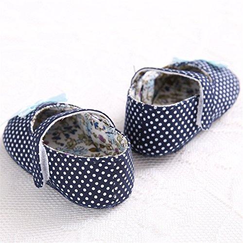 Pueri Zapatos Niñas Con Lazo Zapatos Princesa Suela Blanda Primero Paso
