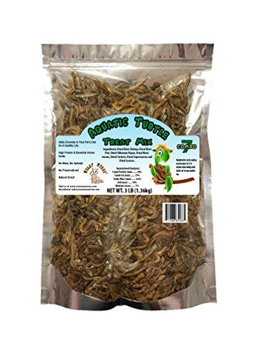- Aquatic Turtle Treat w/Fish Shrimp Mealworms Superworms Silkworm Pupae Crickets & Locusts (3 lb)