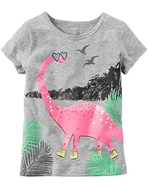 Baby Girls' Graphic Dinosaur Tee