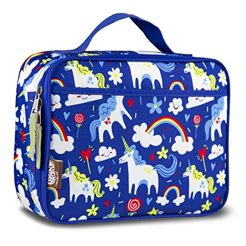 LONECONE Kids' Insulated Fabric Lunchbox - Cute Patterns for Boys and Girls, Gary the Unicorn, Regular