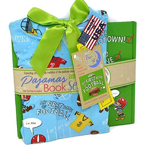 Books to Bed Football Pajama /& Book Set