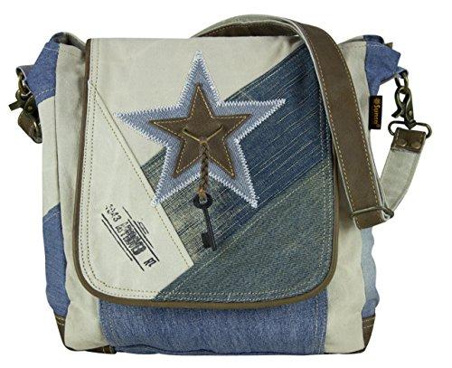 cuero 51726 de compra tela mano con bolso señora Bolso tela Vintage de Sunsa de hecho Bolso hombro de aTYRAU
