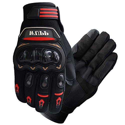 FLY5D Pro-Biker Bicycle Motorcycle Motorbike Powersports Racing Gloves (L,XL,XXLRed) (L)