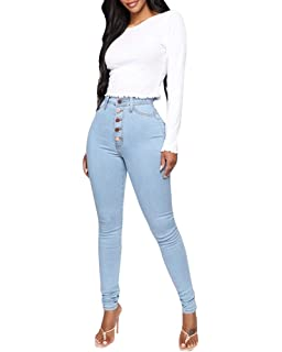 Womens Ankle Skinny Jeans, Plus Size Hole Detail Denim ...