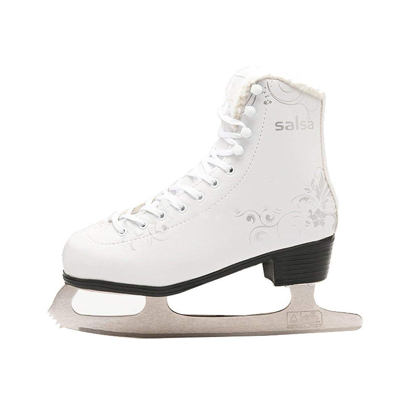 杭懲戒スキッパー[ケーツー] メンズ アイススケート フィギュアスケート スケート靴 F.I.T. ICE ブラック/グレー I180300301