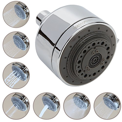 "WaterPoint 3.5"" Chrome Shower Head with Seven Spray Settings (Waterpoint)"