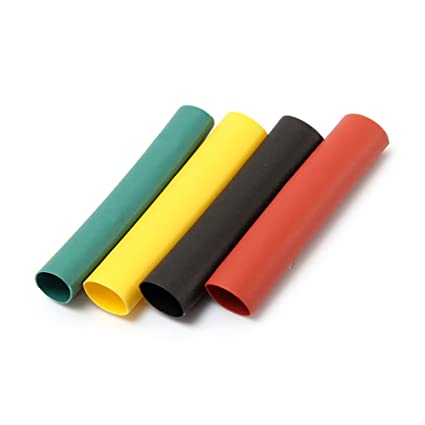 328 pcs 2:1 Polyolefin Halogen-Free Heat Shrink Tube Sleeving 5 Color 8 Sizes