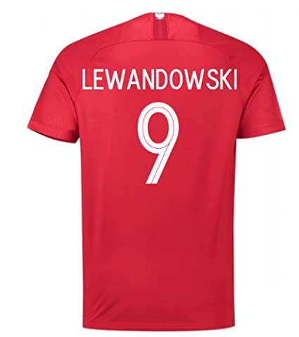 Amazon.com   2018-19 Poland Away Football Soccer T-Shirt Jersey ... 97376bd51