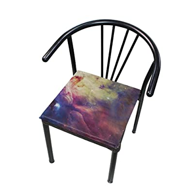 "Bardic HNTGHX Outdoor/Indoor Chair Cushion Abstract Galaxy Pattern Square Memory Foam Seat Pads Cushion for Patio Dining, 16"" x 16"": Home & Kitchen"