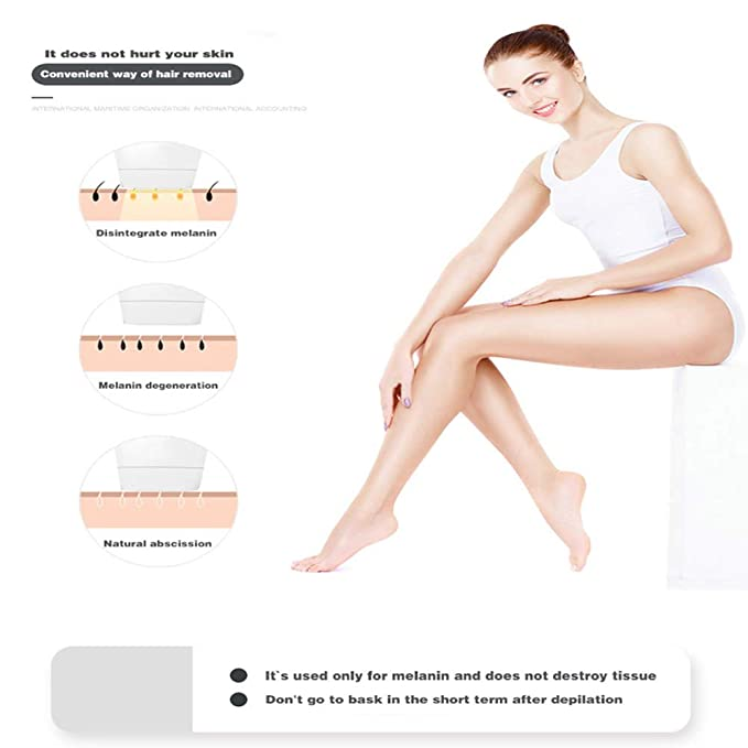 Amazon.com: JMung IPL Hair Removal Light Epilator Automatic Flash & Intermittent Flash 300,000 Flashes of Permanent Hair Removal Home Painless Photon peels ...