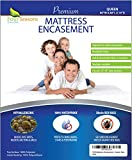 Queen Mattress Protector Bedbug Waterproof Zippered Encasement Hypoallergenic Premium Quality Cover Protects Against