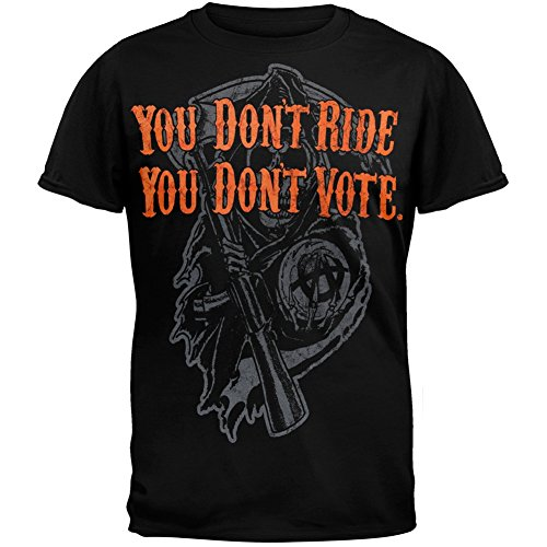 Sons of Anarchy - You Don't Ride You Don't Vote T-Shirt Mens Black X-Large