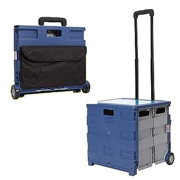 Amazon.com: Carro de la compra pesado con ruedas, cesta de ...