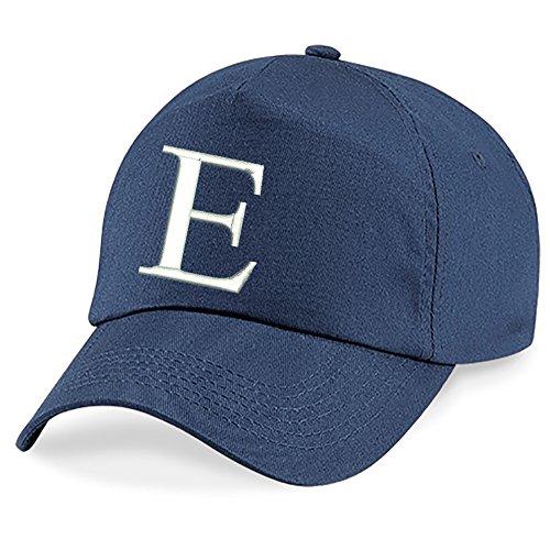 Unisexe Bleu A E Casquette Fille 4sold Cap z Marin Chapeau Bonnet Baseball Alphabet Garcon Enfants 8zz4UqFx