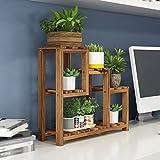 CSQ Creative Plant Stand, Indoor Desktop Study Bedroom Solid Wood Multilayer Ornaments Succulent Plants Potted Plants 401436CM Flower Shelf