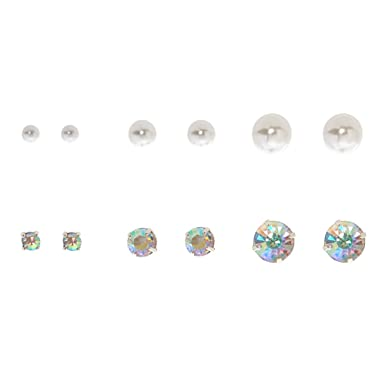 677b650a3 Image Unavailable. Image not available for. Color: Claire's Girl's 6 Pack Graduated  Stud Earrings