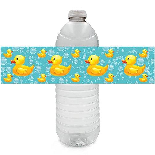 Rubber Ducky Bubble Bath Baby Shower Water Bottle Labels (Set of 20)