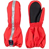 POLARN O. PYRET INSULATED CUFF MITTEN (2-6YRS) - Poppy Red/4-6 years