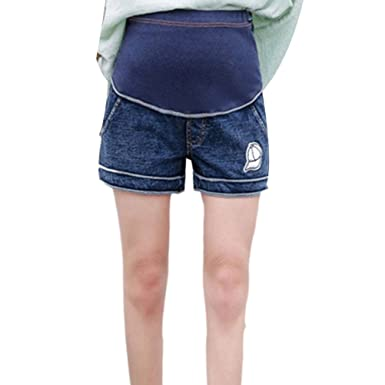 40da61212f Zhhlinyuan Women's High Quality Maternity Shorts Pants Belly Jeans  Pregnancy Clothes Shorts Comfortable: Amazon.co.uk: Clothing