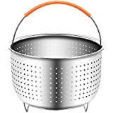Steamer Basket for Instant Pot Accessories Stainless Steel Colander and Insert fits 6 or 8 Quart IP Insta Pot, Instapot, Other Pressure Cookers and Pots, Perfect for Steaming Vegetables, Eggs, Meats.
