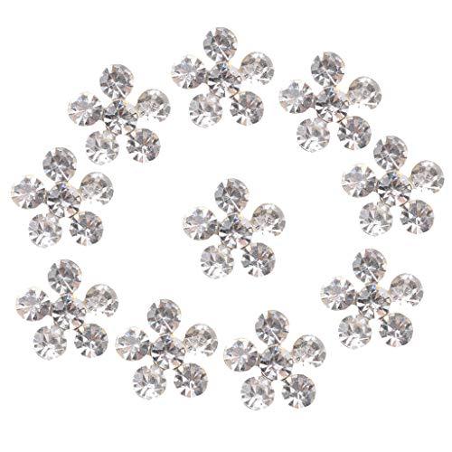 10x Crystal Hair Accessory Wedding Jewelry Embellishments Rhinestones Button
