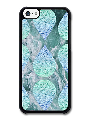 Cool Cute Blue Waves Water Drops on Ocean Hipster Grunge case for iPhone 5C