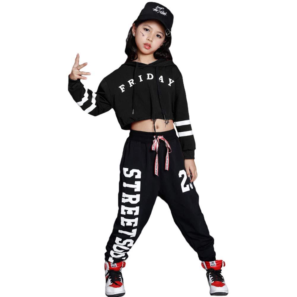 12e60d1cfc9c Amazon.com  LOLANTA Girls Mordern Jazz Dance Outfit Kids Street ...