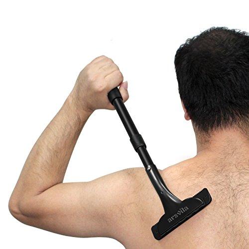 Back Shaver, arsvita Back Hair Shaver razor / Body Shaver for men, Easy to Use with Long Handle(Adjustable) Back Hair Removal