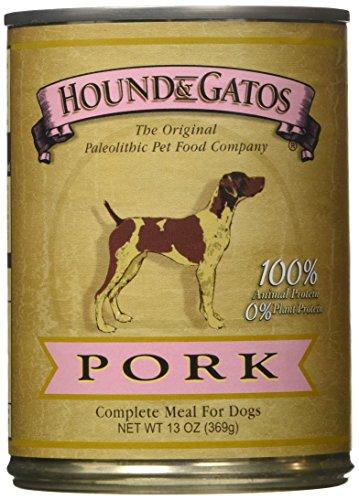 HOUND & GATOS PET FOOD Pork Formula Canned Dog Food, 13 oz.,