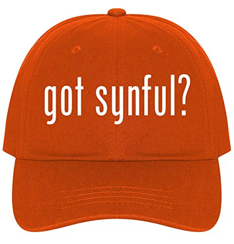 The Town Butler got Synful? - A Nice Comfortable Adjustable Dad Hat Cap, Orange