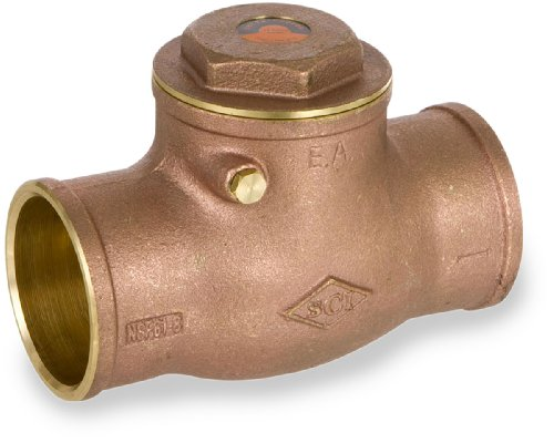 Smith-Cooper International 9192L Series Brass Swing Check Valve, Potable Water Service, 1/2