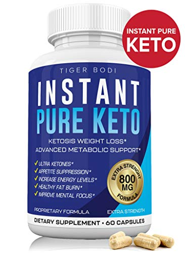 Instant Keto Pills As Seen On Shark Tank, Insta Pure Keto Diet Pills Supplement for Energy, Focus, Metabolism Boost - Advanced Exogenous Ketones for Rapid Ketosis - Ketogenic BHB Diet for Men Women