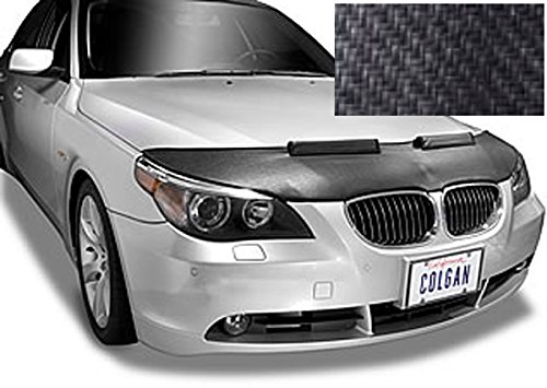 Colgan Custom Fit Sports Bra Front End Mask for Select Acura Integra Models - Carbon Fiber (Black)