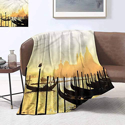 HCCJLCKS Hypoallergenic Blanket Venice Romantic City at Sunrise Digital Printing Blanket W70 xL84 Traveling,Hiking,Camping,Full Queen,TV,Cabin]()