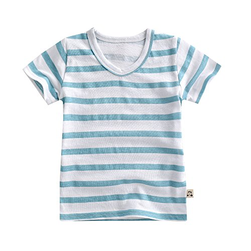 Agibaby-Unisex-InfantToddler-Cotton-Hemp-Short-Sleeve-T-Shirt-Cool-Stripes