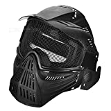 Outdoor CS War Game Full Cover Protection Mesh Face Mask Headgear