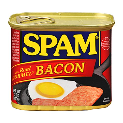 SPAM Bacon - Ham - Canned - Shelf Stable Protein - 12 Ounce