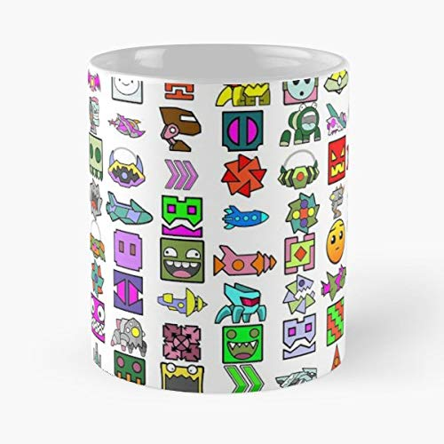 Geometry Dash Icons - Coffee Mug Best Gift 11 Oz Father Day