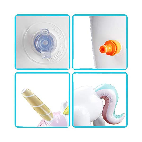 Happytime Giant Inflatable Unicorn Yard Sprinkler Newest Outdoor Inflatable Unicorn Sprinker Water Toy for Adults Kids… 7