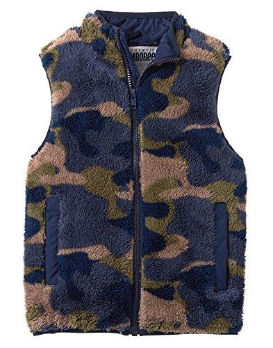 - Gymboree Boys' Little Fuzzy Camo Fleece Vest, Green, M