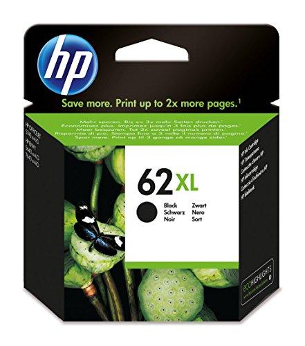 HP 62XL 12ml 600páginas Negro cartucho de tinta - Cartucho de tinta para impresoras (HP, 62XL, Negro, ENVY 5640 e-AiO, ENVY...