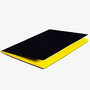 iconic inside colored notebook black cover yellow pages a5 64pgs