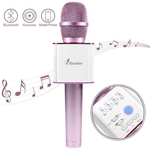 Wireless Microphone, Besteker Portable Wireless Mic Handheld