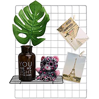 """Hosal Grid Panel, Wall Display & Organizer Sculptural Frames & Holders For Living Room Or On The Desk As A Plan Wall, Show Your Picture Or Life, Size:19.1"""" x 14.9"""", 2 Pcs,White Color"""