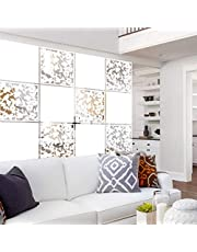 """Lchen Hanging Room Divider Panel, 12 Pieces White Screen Panels Solid Board Cut Room Partition Home Decoration(Mixed,15.7""""x15.7""""x0.03"""")"""