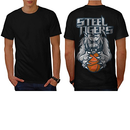 [Steel Tigers Sport Basketball Men NEW L T-shirt Back | Wellcoda] (Out Of Your League Costumes)