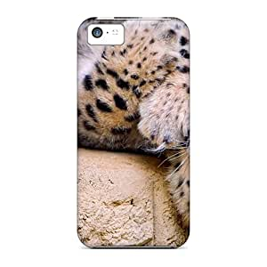 Faddish Phone Playful Snow Leopard Case For Iphone 5c / Perfect Case Cover